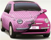 Fiat 500 au couleur de Barbie
