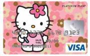 Carte bancaire Hello Kitty. Contrairement à ce que la licence pourrait laisser croire, Hello Kitty touche aussi les adlutes, voici quelques objets qui leurs sont spécifiquement destinés.