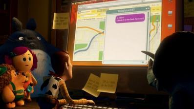 Totoro joue sa Guest Star dans Toy Story 3 (notez le chiffre 237 sur l'écran qui fait référence à Shining)