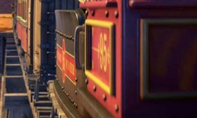 Le train porte le numéro 95 en référence à l'année de production du premier Toy Story