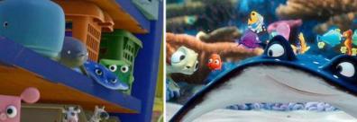 Un des jouets représente Ray le professeur de Nemo