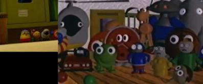 Ces jouets sont tirés du court métrage Tin Toys (l'ancêtre de Toys Story)