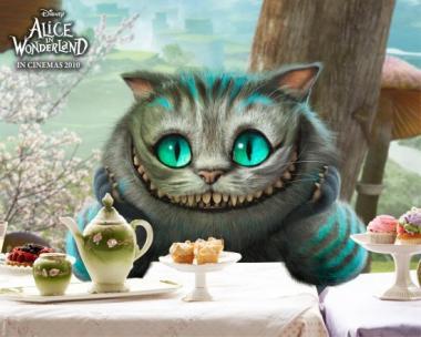 Le chat dans Alice au pays des merveilles