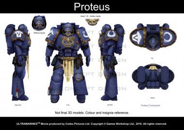 Image de production du film Warhammer 40000 Ultramarines