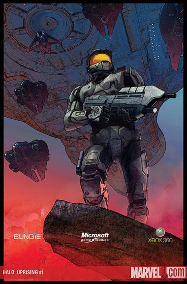 Dessin d'Alex Maleev de Halo