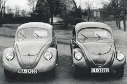 Porsche a développé la première Volkswagen (la coccinelle) qui après la deuxième guerre mondial aura un succès incroyable