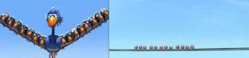 Drôles d'oiseaux sur un fil et leur courte apparition dans Cars
