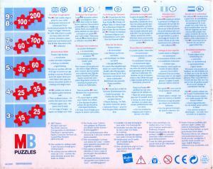 Puzzle MB de 60 pièces packaging dos (Cars - 2008)
