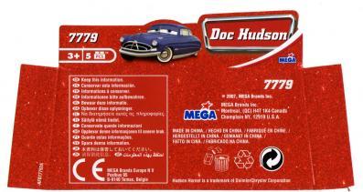 Packaging dessous Mega-bloks Doc Husdon (2007) Cars