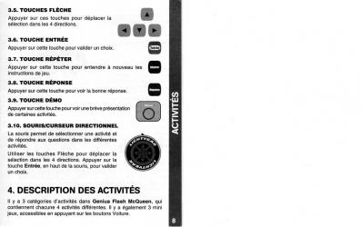 Notice page 8 : Vtech : Genius Flash McQueen (2008) Ordinateur Cars