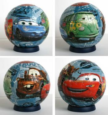 Puzzle Ball Ravensburger de 96 pièces (Cars - 2005)