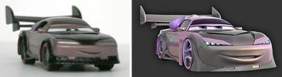 Dans le film Plein-Pot (Boost) est recouvert d'une peinture dont la couleur varie en fonction de l'angle de vue. Hors pour ce jouet, ils n'ont pas utilisé une peinture similaire, mais une peinture normale.