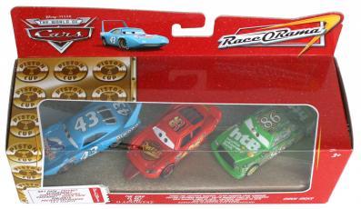 Mattel : Diorama - Ligne d'arrivée (King - Flash - Chick) (Cars - Pixar)