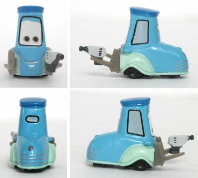 Mattel : Race O Rama – Bleu clair N°034 - Guido avec pistolet (Pixar - Cars)