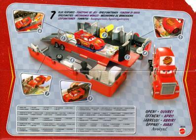 Mack activités de la remorque - Cars - Mattel (Packaging face ouvert)