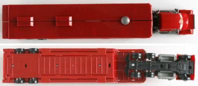 Mack - jouet - Cars - Mattel (vue dessus et dessous)