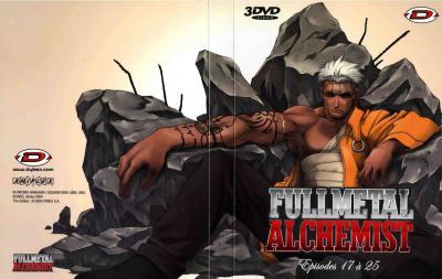 Extérieur du digipack  avec les épisodes 16 à 25 (plus bonus) de la box collector Fullmetal Alchemist