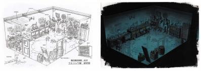 Décor extrait de la bible graphique - Fullmetal Alchemist Box DVD collector 1 (Dybex - 2008)