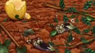 les plantations ont été ravagées pendant la nuit (Kirikou et les bêtes sauvages)