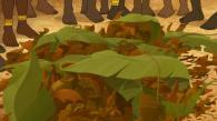 Le buffle renverse sa cargaison, la piétine et s'enfuit (Kirikou et les bêtes sauvages)