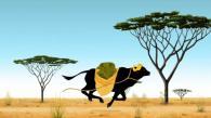 Le buffle est en réalité au service de Karaba, il s'échappe dès qu'il voit le marché (Kirikou et les bêtes sauvages)