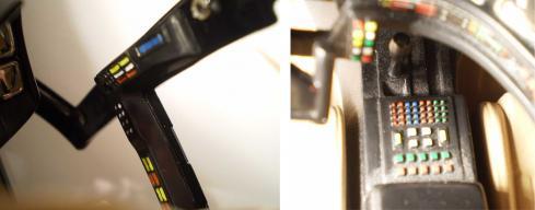 Le tableau de bord reprend exactement les caractéristiques et les proportions de l'original et tous les boutons sont au bon emplacement dans la bonne couleur.
