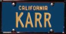 Plaque d'immatriculation de KARR, cliquez dessus pour l'avoir à la bonne échelle, l'enregistrer et l'imprimer (ERTL : K.A.R.R. (K2000) Knight Rider - ech 1/18