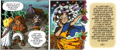 Jadina est en réalité une princesse, et elle a un sens inné du mélodrame. Le rendu graphique avec les petites fleurs évoque les codes du Shojo