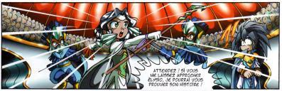 Elysio peine à convaincre les elfes de sa bonne foi, alors Jadina décide de lui venir en aide.