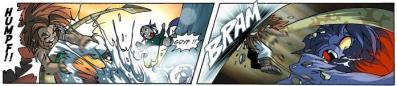 Gryf est aux prises avec  un terrible monstre marin appelé Fluvior