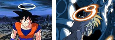 L'auréole de Danaël après sa résurrection est inspiré de ce qui est arrivé à Sangoku dans Dragon Ball Z