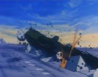 En prenant son envole l'Atlantis détruit la piste de décollage