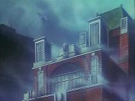 Toshirô et Emeraldas trouvent le maire pendu par le cou, il s'est donnée la mort en voyant la disparition des habitants