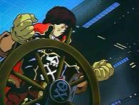Harlock part à la poursuite du vaisseau ennemi