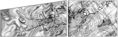 La vaisseau Yamato que l'on voit apparaître sur cinq pages n'a aucun rôle réel, il s'agit juste d'un clin d'oeil à une autre série de Leiji Matsumoto.