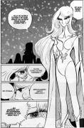 Brunhilde se présente à Great Harlock pour le défier