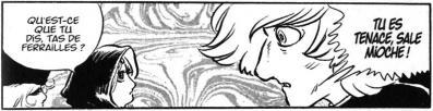 La jeune Emeraldas joue avec sa vie en provoquant un métanoïde.