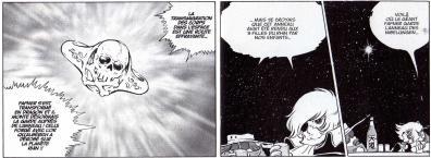 On découvre dans ce tome que Fafner s''est transformé en féroce dragon et qu''il possède l''Anneau des Nibelungen. Rien n'est expliqué sur les raisons qui ont fait qu''Albator a perdu l''anneau et que Fafner est devenu un monstre.
