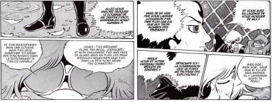 Ôyama et Great Harlock font preuve d'inconscience en laissant Hagen monter sur le Death Shadow tout en sachant qu'il a une bombe. Et ils font preuve de bêtise en l'insultant sachant que la déflagration n'affectera pas Hagen, juste le Death Shadow