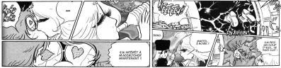 La scène du premier baiser entre Toshirô et Emeraldas est basée sur un prétexte qui manque de crédibilité
