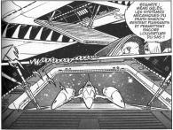 L'arrière du Death Shadow est gelé au zéro absolu, la trappe du hangar ne devrait donc pas être en mesure de fonctionner