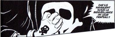 page 38 Toshirô  dit qu'il n'y a pas lieu de s'inquiéter parce que leur père respectifs sont protégés par leur bannière. En lisant ça, on a l'impression que Leiji Matsumoto a été un peu trop atteint par la propagande de la seconde guerre mondiale.