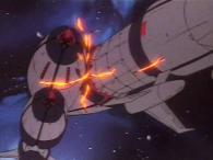 Privés de chef, les autres vaisseaux sont désorientés et se rentrent les uns dans les autres