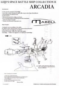 Page 2 de la notice de l'Arcadia de Mabell de la collection Leiji's Space ship