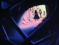 La proue de l'Atlantis étant enfoncée dans la pyramide, Albator peut entrer à l'intérieur pour l'explorer
