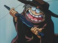 Toshirô a offert à Emeraldas un pistolet laser de sa conception appelé Cosmo Gun