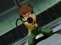 Hiroshi tire sur le Capitaine Gabor avec le Cosmo Gun d'Emeraldas