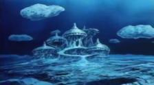 Sirène invite Hiroshi et le vieil homme dans son chateau