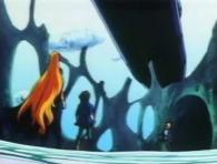 Hiroshi explique à Emeraldas qu'il a vu Toshirô lorsqu'il était prisonnier de l'illusion de Sirène