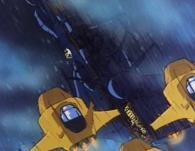 Les chasseurs de Vilak attaquent l'Atlantis